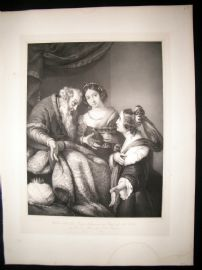 After Berardo Strozzi C1840 LG Folio. Esther asks for Mercy for her and people